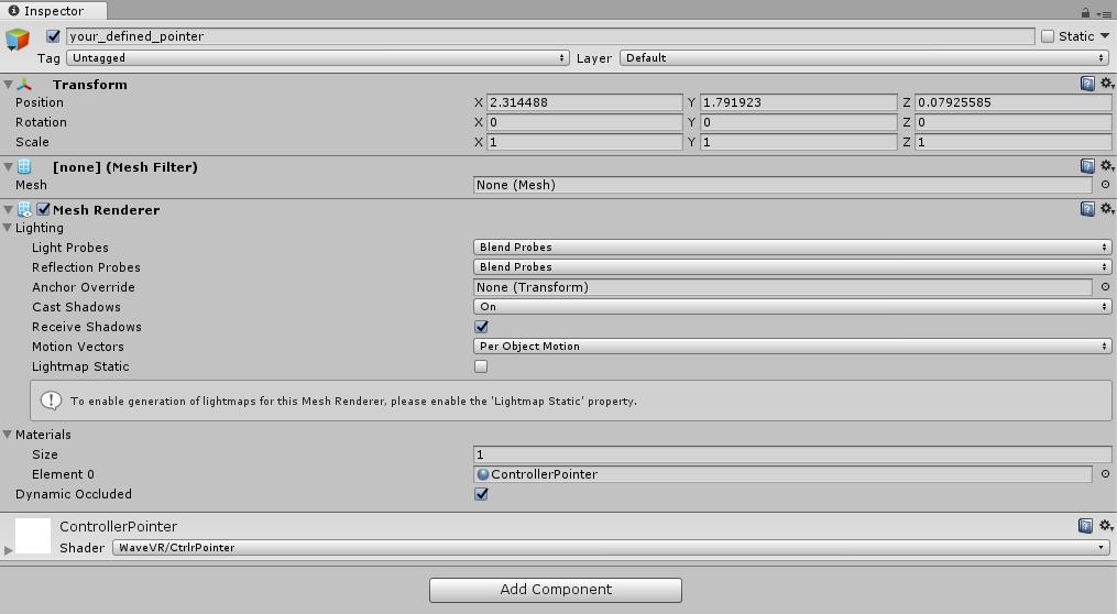 WaveVR_ControllerPointer — Wave VR 2 0 37 documentation