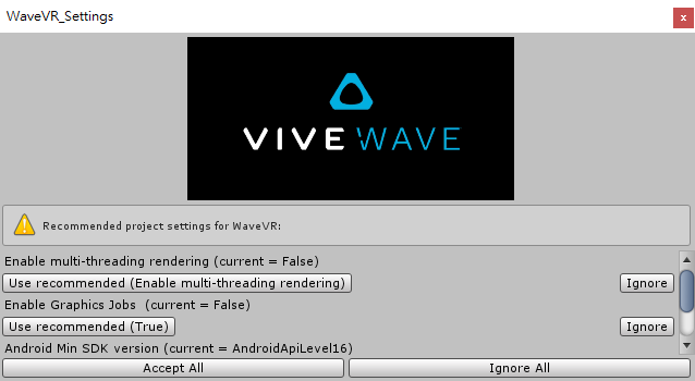 Unity Plugin Getting Started — Wave VR 2 0 37 documentation