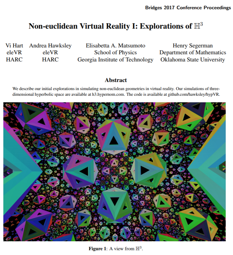 Henry Segerman – Non-euclidean virtual reality – Becoming Borealis